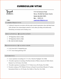 Sample Curriculum Vitae Format For Students Curriculum Vitaes Examples Sample Resume123