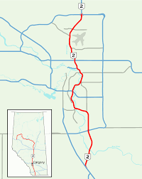 Map Of Canada Showing Calgary by Deerfoot Trail Wikipedia
