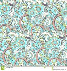 seamless abstract hand drawn pattern steampunk background stock