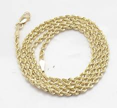 gold chain necklace rope images 1 7mm solid sparkle glitter diamond cut rope chain necklace real jpg