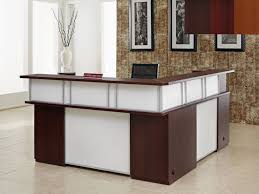 Fancy Reception Desk Cool Fancy L Shaped Reception Desk 78 For Hme Designing