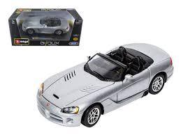 when was the dodge viper made dodge viper srt 10 silver 1 24 diecast model car by bburago