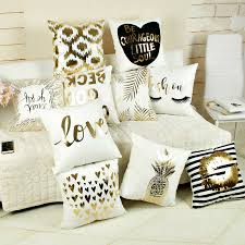 Tao Face Cushion With 2 Buy Gold Decorative Pillow And Get Free Shipping On Aliexpress Com