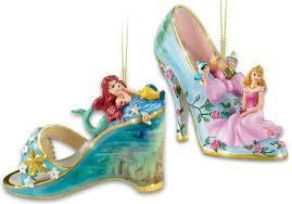 brandford exchange once upon a slipper ornaments disney princesses