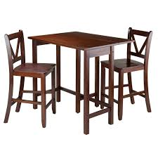 2 Person Dining Table And Chairs Winsome Trading Lynnwood 3 Piece Counter Height Dining Table Set
