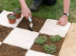 Backyard Soil Making A Checkerboard Patio Garden How Tos Diy