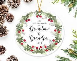 grandparents ornament gift personalized photo