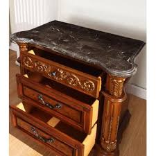 Marble Top Dresser Bedroom Set Esofastore Formal Classic Elegant Traditional Style Bedroom