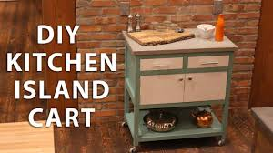 how to build a kitchen island cart diy kitchen island cart with a concrete top