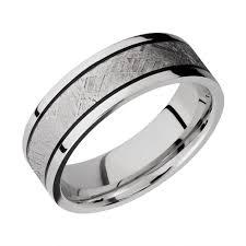 meteorite mens wedding band men s cobalt chrome wedding band with gibeon meteorite inlay and