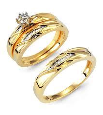 14k gold wedding ring sets 14k solid gold baguette wedding ring set bridal