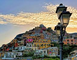 wallpapers positano italy salerno mountains street lights cities