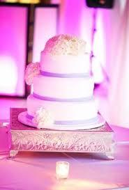 Wedding Cake White Ivory Bow Purple Fuchsia Phalenopsis