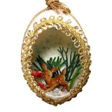 Deer Christmas Tree Decorations by Best Vintage Reindeer Christmas Ornaments Products On Wanelo