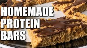 cheap homemade protein bars chocolate peanut butter crisp youtube