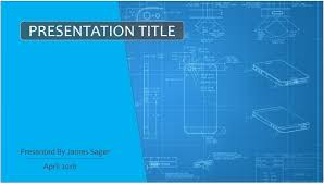 iphone blueprints powerpoint template 8089 free powerpoint