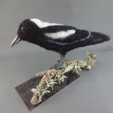 needle felted magpie by samspiration sold on handmade australia