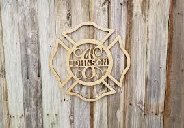 wooden maltese cross wood fireman s firefighter shield maltese cross with name and