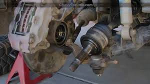 Cv Boot Leaking by How To Replace Front Axle Cv Joint In Chevy Silverado Youtube