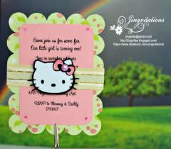 birthday and baby shower invitations hello kitty party invites