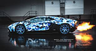 nissan gtr wrapped camo 2013 lamborghini aventador bape arctic camo by liberty walk photos