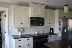 Backsplash With White Kitchen Cabinets White Cabinets With Gray Backsplash Kitchen Ideas Pinterest