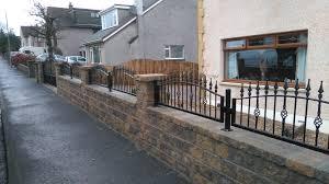 Garden Wall Railings by Garden Railings Ironworks