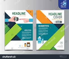 diabetes health flyer leaflet brochure template stock vector