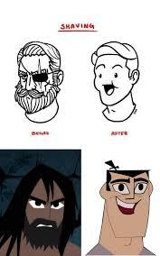 Beard Shaving Meme - shaving samurai jack know your meme