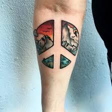 finger tattoo peace 55 best peace sign tattoo designs anti war movement symbol 2018