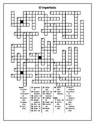imperfecto imperfect tense in spanish crossword 1 by jer tpt