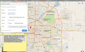 google maps report a problem does it work for local spam