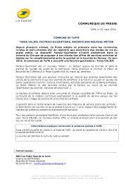 bureau de poste vaugirard communiqué de presse tania valier factrice guichetière à tuffé
