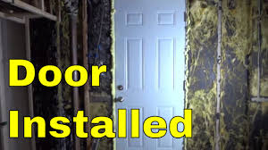installed an exterior door diy basement renovation youtube