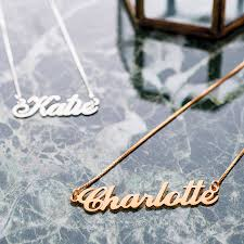 childs name necklace personalised handmade name necklace by lou of london