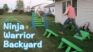 ninja warrior course backyard youtube