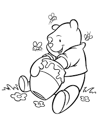 pooh bear coloring pages eson me