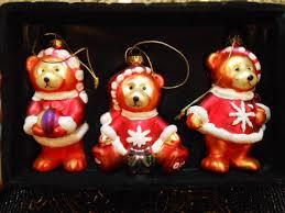 belkie 2005 teddy glass ornaments vintage looking