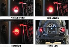 jeep jk led tail light bulb off road only litedot led tail lights for jeep tj yj cj
