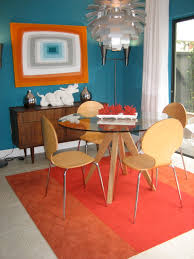 Round Rug For Dining Room Modern Round Dining Table Dining Room Midcentury With Area Rug