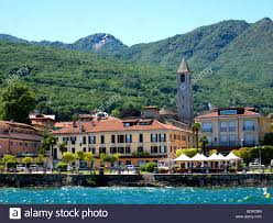 baveno on lake maggiore in northern italy stock photo royalty