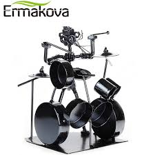 ermakova metal musician drum player statue drummer drum set
