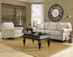 Fabric Chairs For Living Room by Furniture Charming Fabric White Sofa And Black Table With Tray By