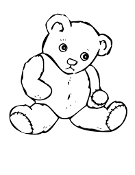 bear coloring pages kids pictures of bears to colour in valentine