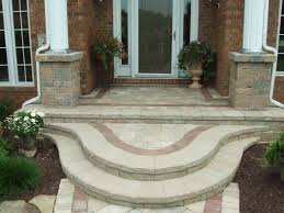 Brick Stairs Design Front Porch Stoop Ideas Front Stairs Design Ideas Paver To Home