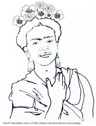 best frida kahlo coloring book photos printable coloring pages