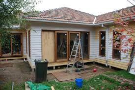 georgyg design back of house brick to weatherboard extension