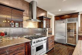 oak kitchen cabinets with stainless steel appliances 55 gorgeous kitchens with stainless steel appliances photos