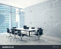 Conference Room Interior Design Conference Room Interior Concret Wall 3d Stock Illustration