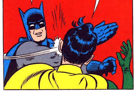 Slap Meme - batman slap bernie blank template imgflip